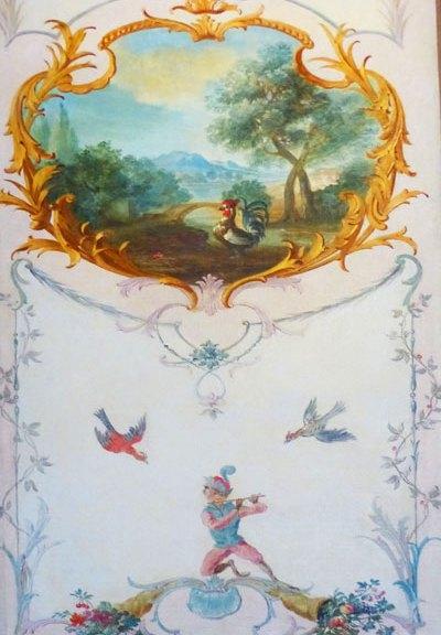 Boiserie Louis XVI champêtre Gobelins ecoutelebois