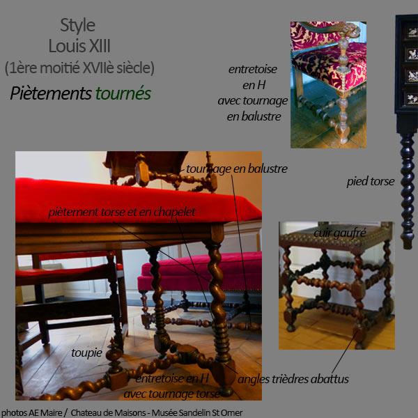 mobilier Louis 13 pieds tournés