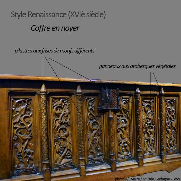 mobilier renaissance coffre