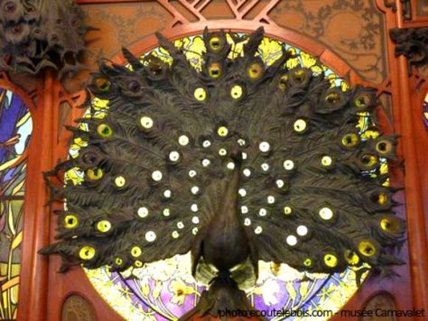 paon bijouterie fouquet art-nouveau ecoutelebois