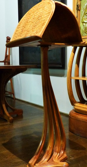 pupitre art-nouveau 1901 lignes courbes ecoutelebois