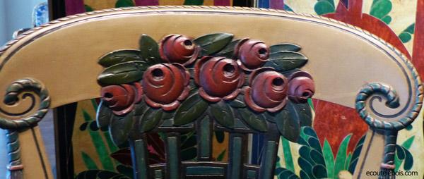rose art-deco dossier chaise sue 1912 ecoutelebois