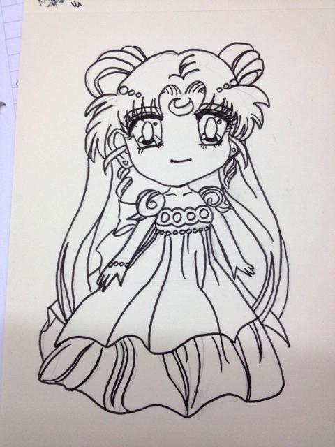 ©AimeDjy 2016 : Sailor moon dessin encré