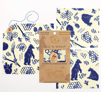 Bee's Wax Wrap design Bees & Bears