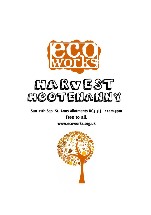 Ecoworks Harvest Hootenanny- 20th Birthday-side 1