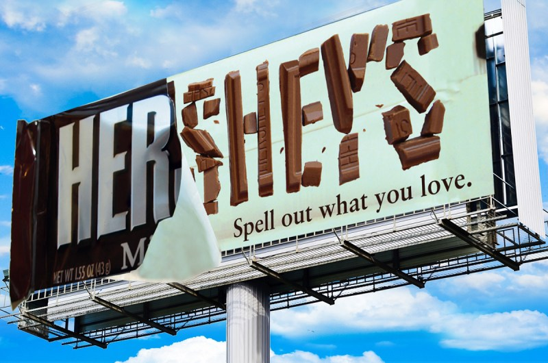 Hershey's Chocolate Billboard Advertisement