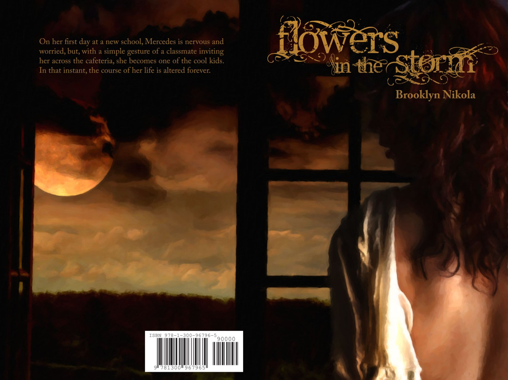 Flowers in the Storm Book Cover Design by E.C. Spillman