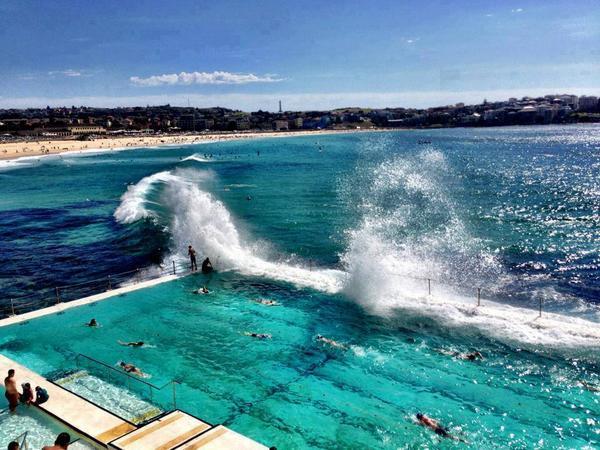 Bondi Beach Bondi Bay In Sydney Bondi Beach In Australia