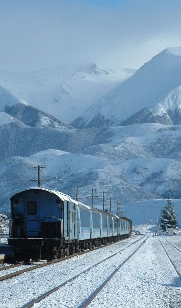 TranzAlpine Train, South Island, New Zealand