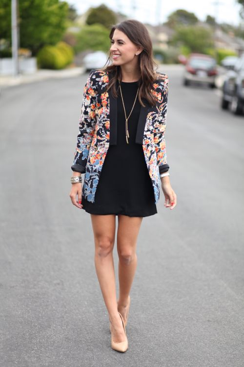15 Fashionable Combinations With Floral Blazers