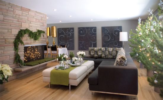 Living Room Centerpiece Ideas With Gorgeous White Rose Arrangement