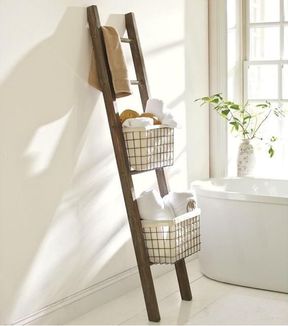 DIY Pottery Storage Ladder