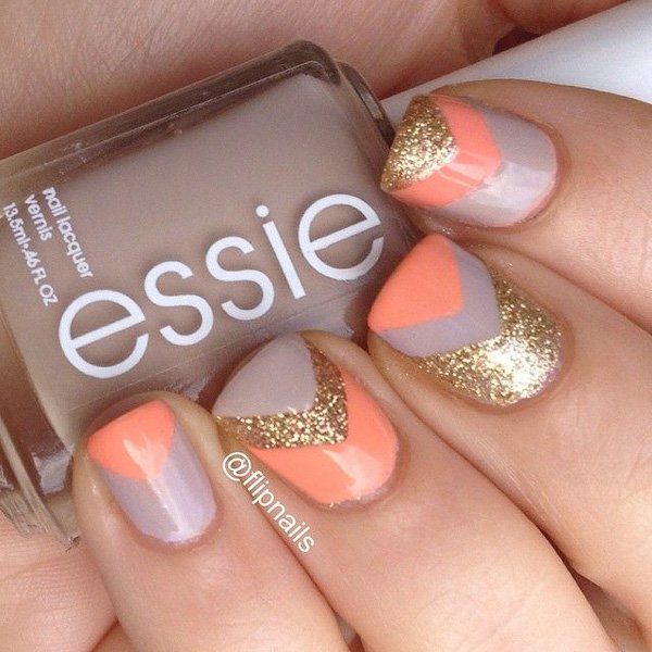 Glitter Nail Ideas For Summer: 100 Cute And Easy Glitter Nail Designs Ideas To Rock This
