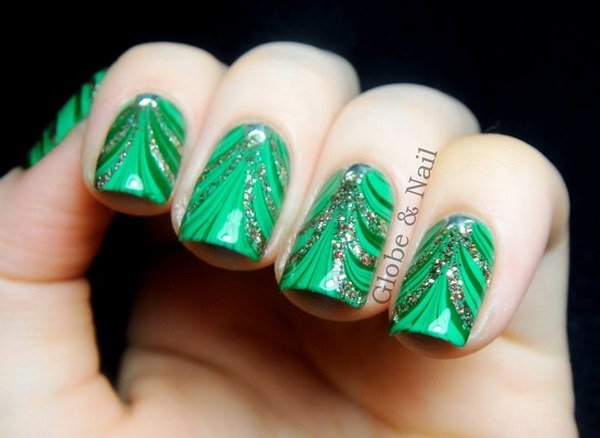 40 Elegant And Amazing Green Nail Art Designs That Will Inspire You 187 Ecstasycoffee