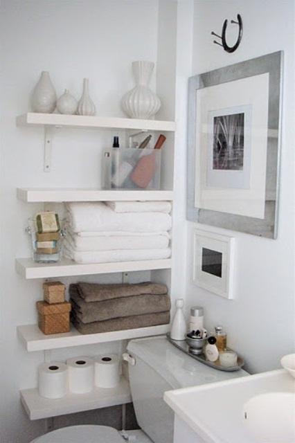 Practical Bathroom Storage Ideas @EcstasyCoffee - 14