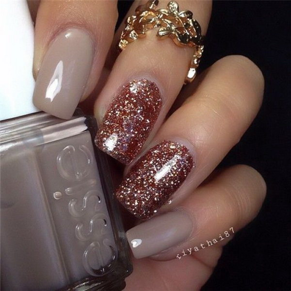 100 Cute And Easy Glitter Nail Designs Ideas To Rock This Year Ecstasycoffee