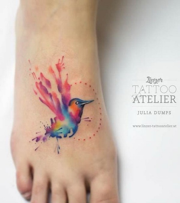 50 Beautiful Watercolor Tattoo Designs And Ideas That Will ...