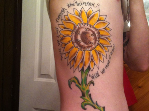 40 vibrant and inspirational sunflower tattoos that will