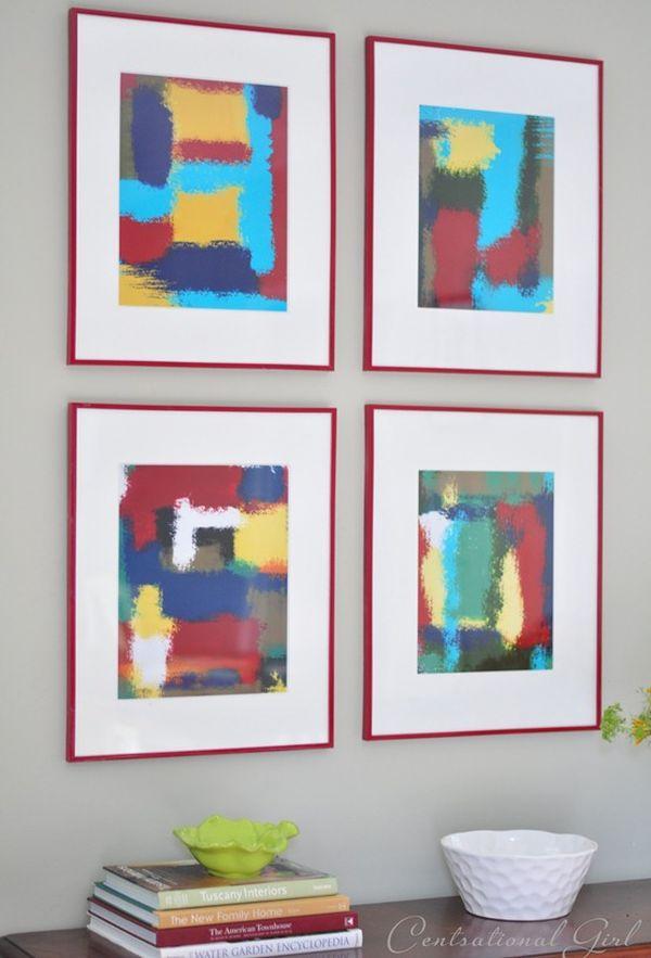 Abstract wall art frame