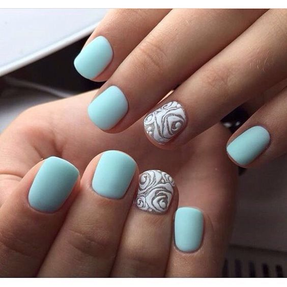 Blue Gel Nail Designs: 50 Stunning Manicure Ideas For Short Nails With Gel Polish