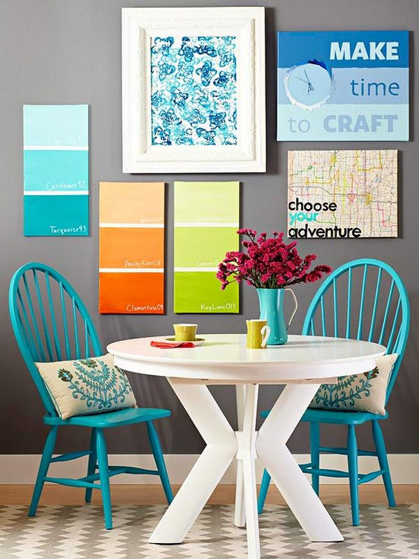 Canvas with Colorful Shades