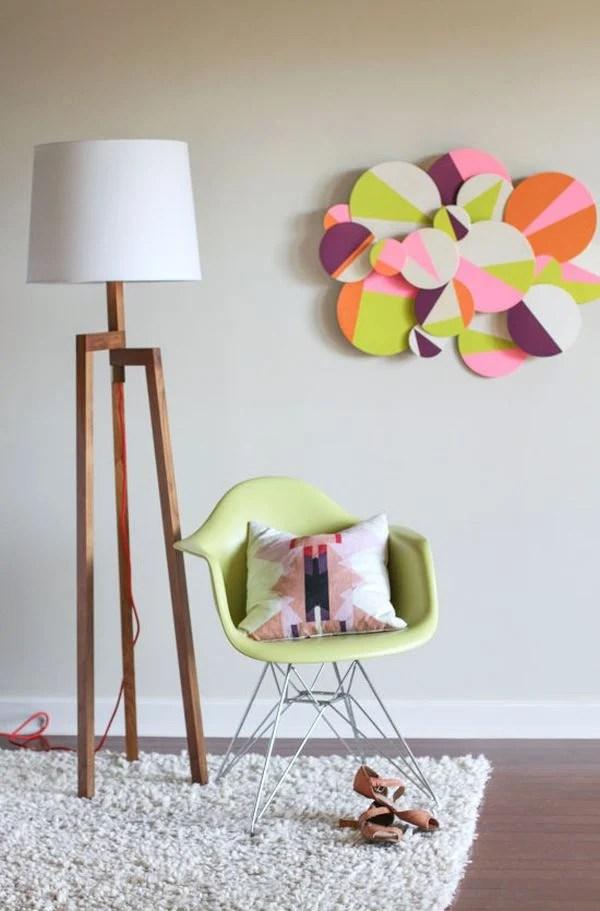 Colorful 3D Wall Art DIY Idea
