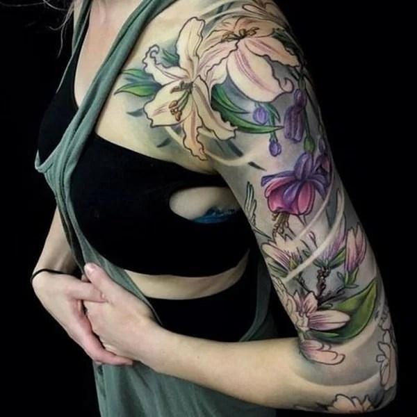 30 Splendid Sleeve Tattoo Design Inspirations For Women