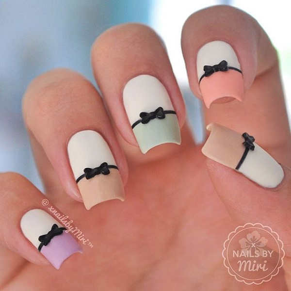 30 Cute Cool And Simple Bow Nail Art Designs For Girls