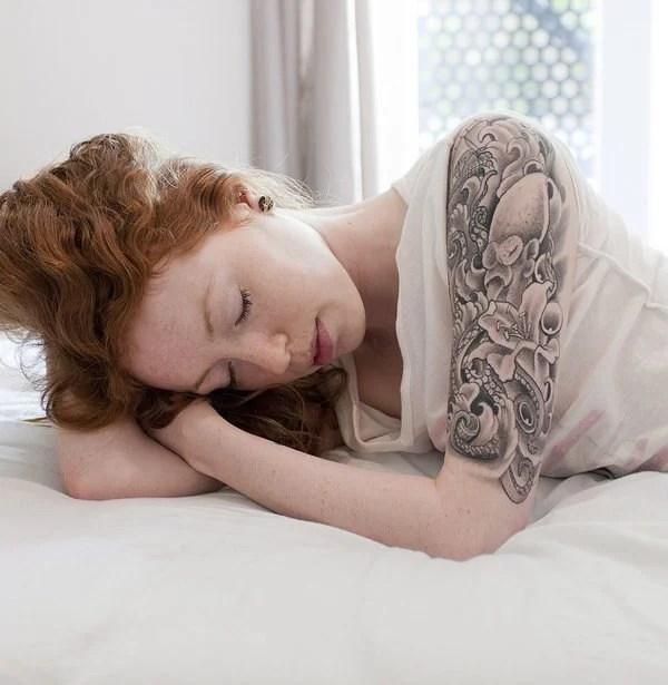 Half Up Half Down Wedding Hairstyles: 30 Splendid Sleeve Tattoo Design Inspirations For Women
