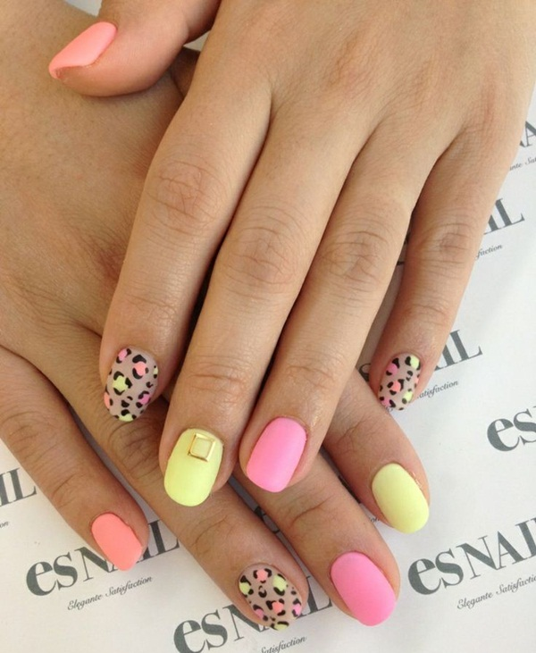 40 Best Shellac Nail Art Design Ideas Ecstasycoffee: 40 Cool Matte Nail Art Designs You Need To Try Right Now