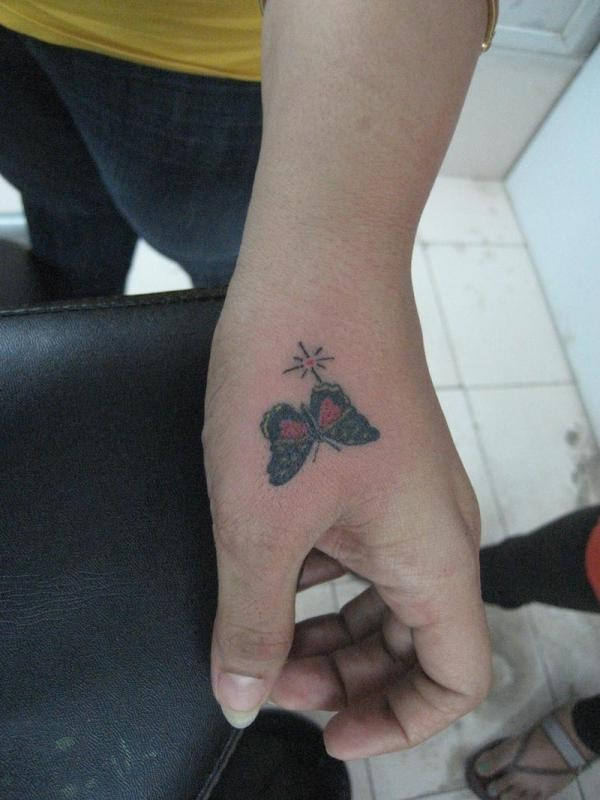 Most women opt for butterfly tattoos because of its cute shape and symbolic meaning.