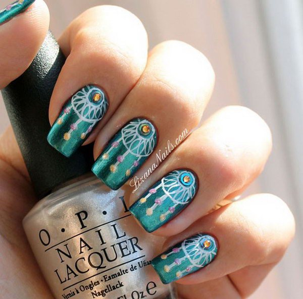 native-american-nail-art-designs-11 ... - 40 Inspirational Nail Art Inspired By Native American Designs