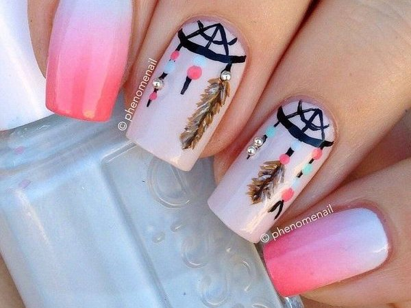 40 Inspirational Nail Art Inspired By Native American Designs
