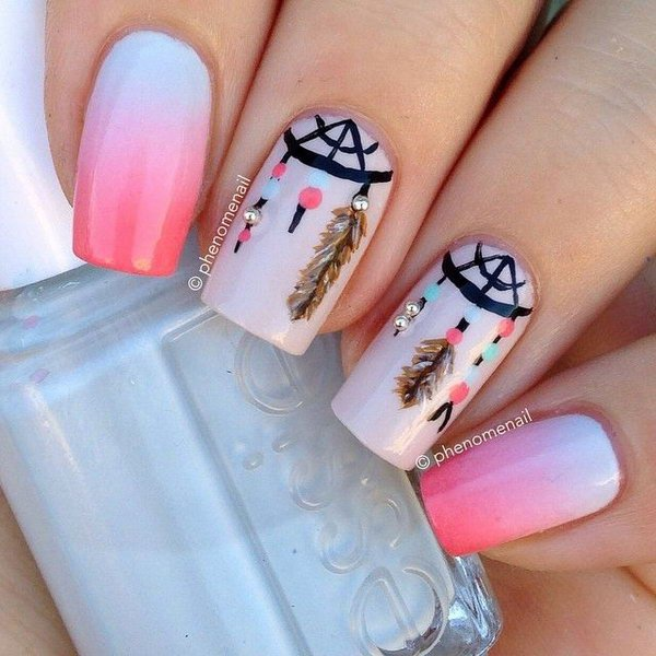 40 Inspirational Nail Art Inspired by Native American Designs ...