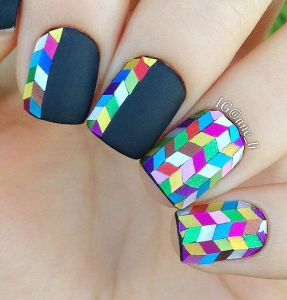 30+ Cool Colorful Rainbow Nail Designs You Won't Miss