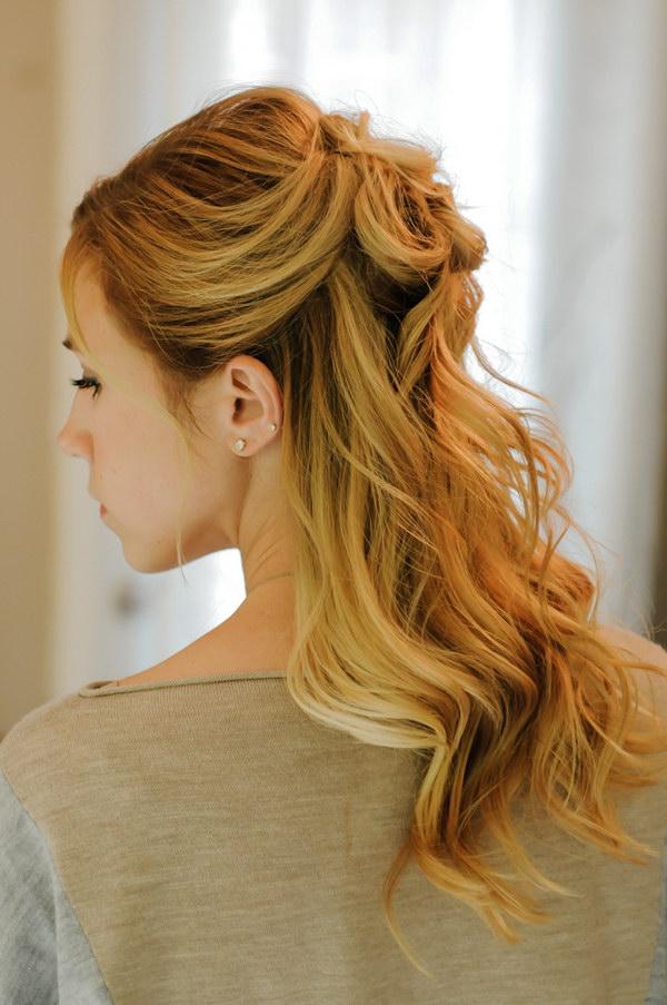 30 fashionable halfup halfdown hairstyles to make you