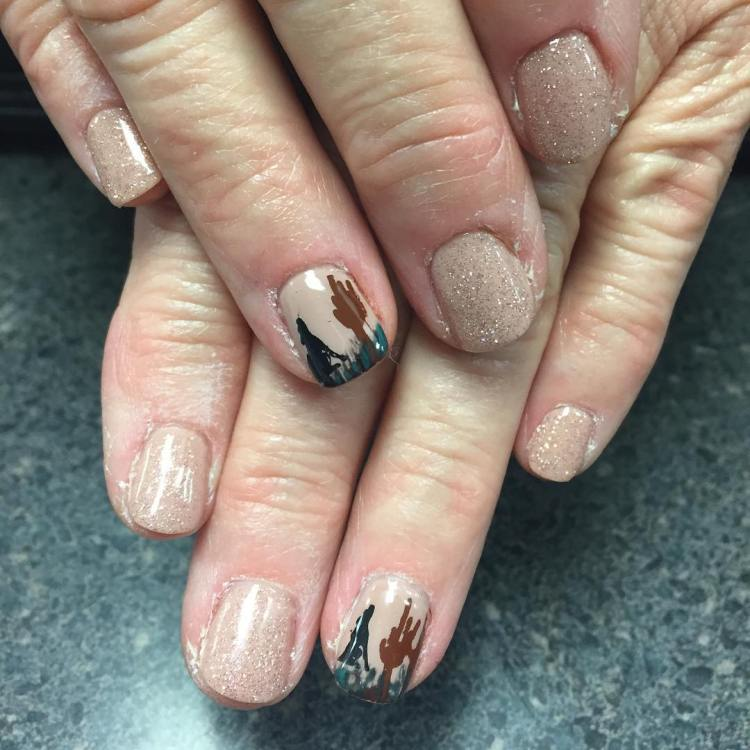 40 Best Shellac Nail Art Design Ideas Ecstasycoffee: 40 Inspirational Nail Art Inspired By Native American