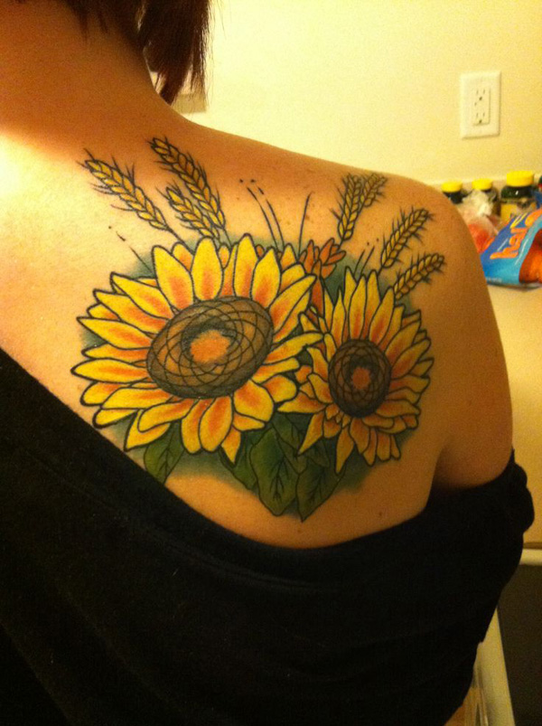 40 Vibrant And Inspirational Sunflower Tattoos That Will Inspire You To Get Inked 187 Ecstasycoffee