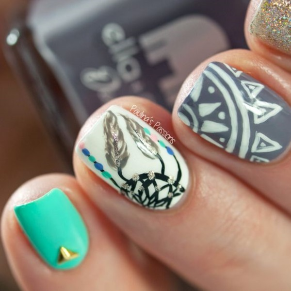 45 Stylish Aztec Nail Art Designs You Will Love To Copy » EcstasyCoffee