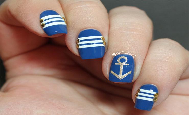 how to make a anchor nail design
