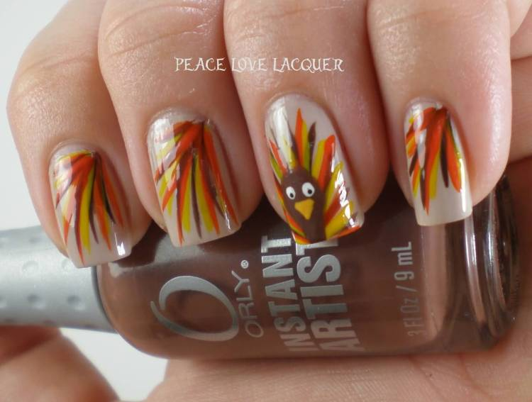 40 beautiful thanksgiving nail art designs for fall season autumn fall thanksgiving nail art prinsesfo Gallery