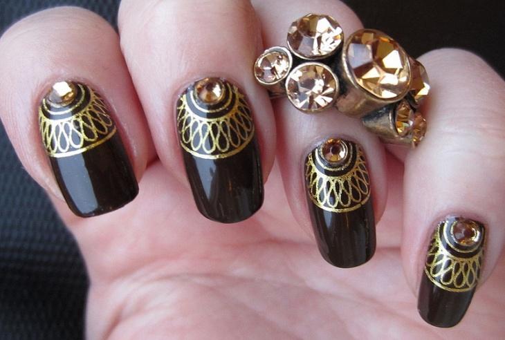 amazing rhinestone nail art