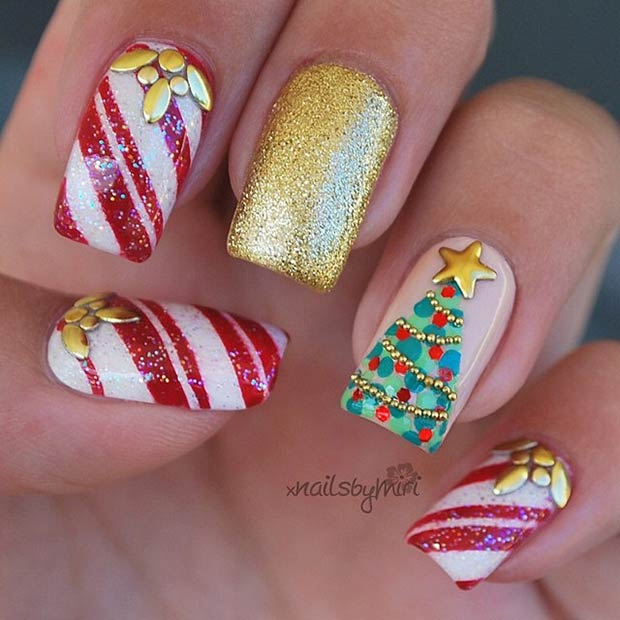 Christmas Nail Art Designs Gallery: 60 Awesome Christmas Nail Art Designs