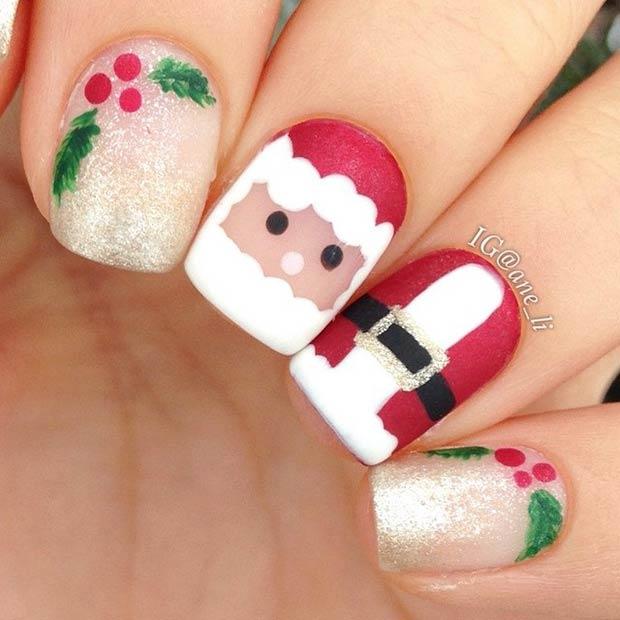 Christmas Nail Art Ideas: 60 Awesome Christmas Nail Art Designs