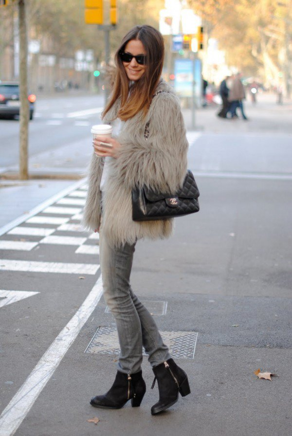 coffee-fur-coat-outfit ... & 50 Chic Fall/Winter Fur Coats Ideas » EcstasyCoffee