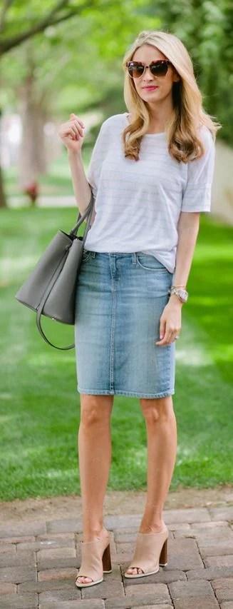 40 Lovely Denim Skirts To Wear Now » EcstasyCoffee