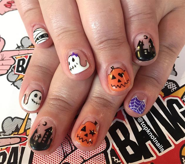 cute halloween nail art ideas