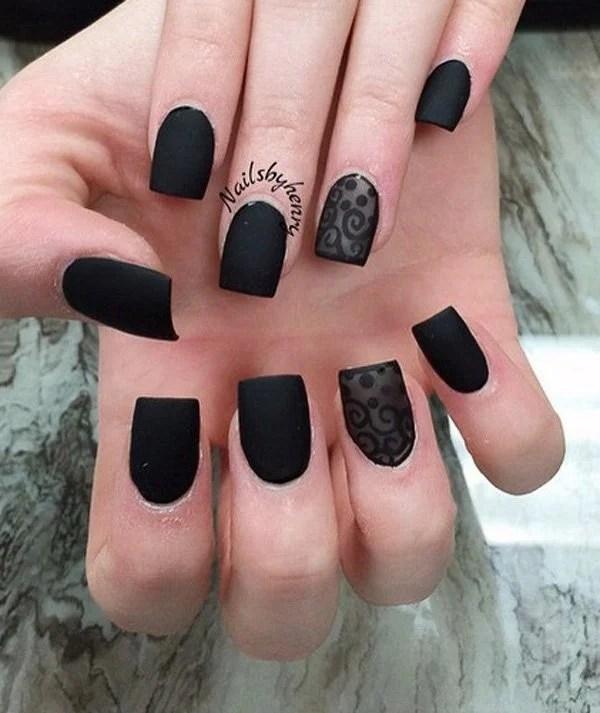 beautiful dark nail design