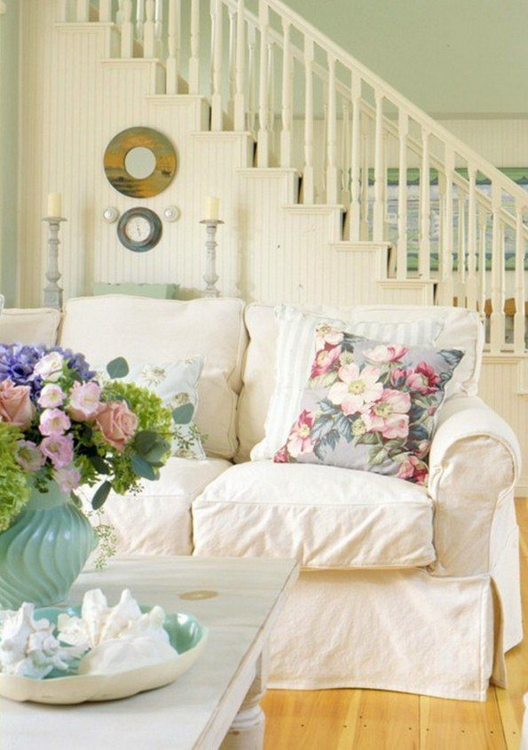 40 Grey Living Rooms That Help Your Lounge Look: 50 Cool Shabby Chic Living Room Decor Ideas » EcstasyCoffee