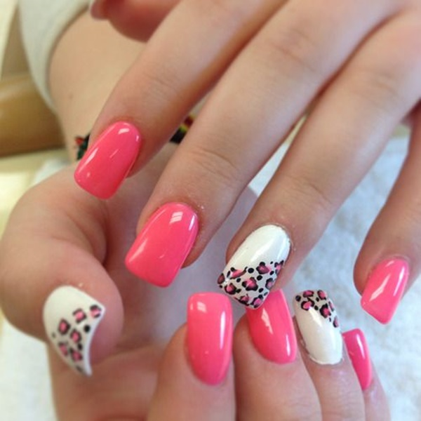 ... pink-and-white-nails-designs-20 ... - 50 Most Beautiful Pink And White Nails Designs Ideas You Wish To Try